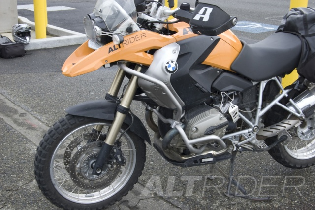 AltRider Upper Crash Bars Assembly for the BMW R 1200 GS - Installed