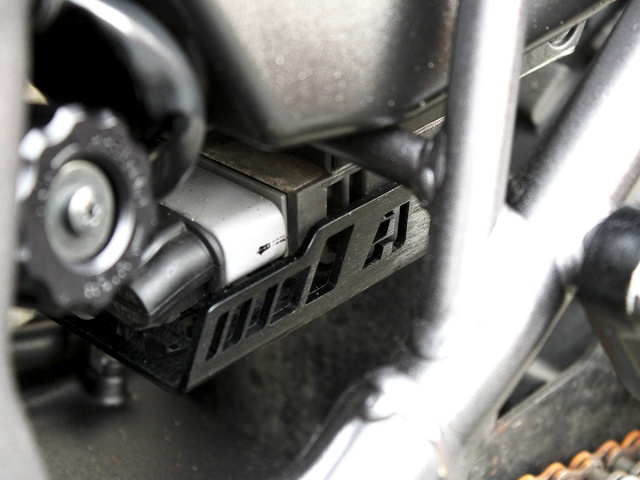AltRider Voltage Regulator Guard for the Honda CRF1000L Africa Twin/ ADV Sports - Installed