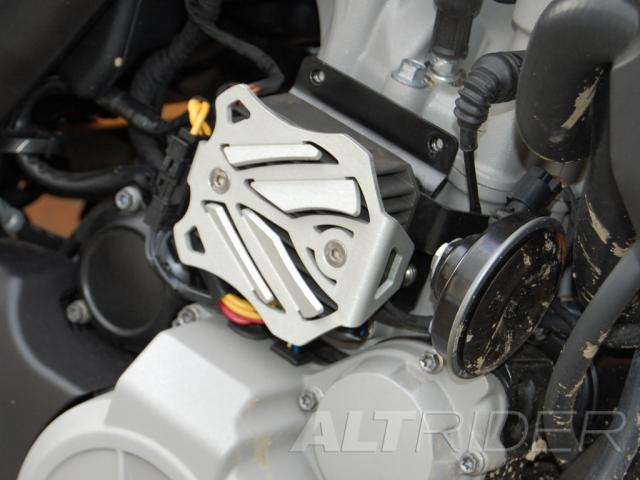 AltRider Voltage Regulator Guard for the Husqvarna TR650 Terra and Strada - Installed
