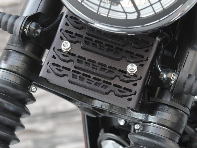AltRider Voltage Regulator Guard for the Triumph Scrambler EFI - Installed