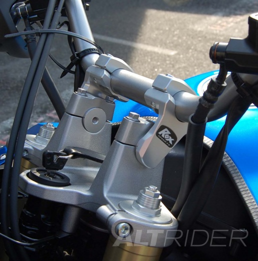 "ROX 2"" Pivoting Bar Risers for 1-1/8"" Handlebar - Installed"