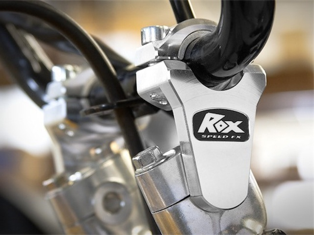 "ROX 2"" Pivoting Bar Risers for 7/8"" OR 1-1/8"" Handlebar - Installed"