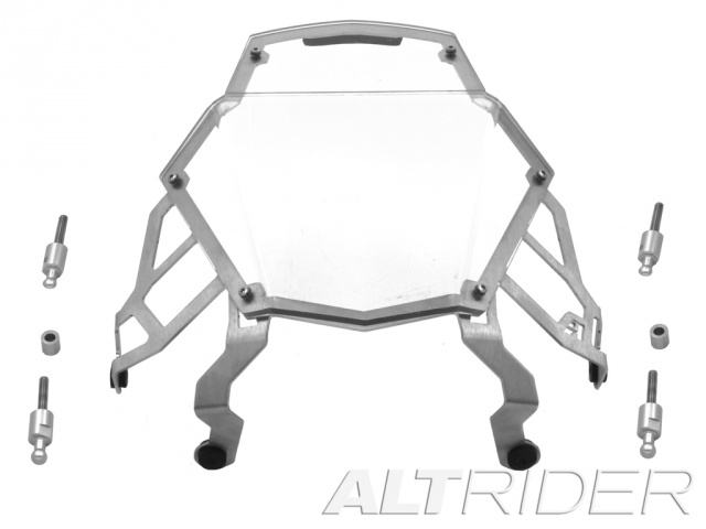 AltRider Clear Headlight Guard for the KTM 1050/1090/1190 Adventure / R - Product Contents