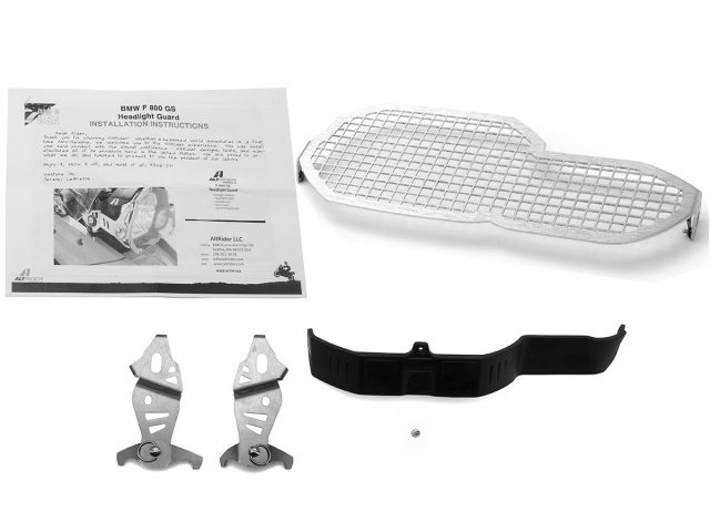 AltRider Stainless Steel Headlight Guard Kit for the BMW F 800 GS - Product Contents
