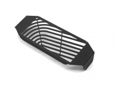 AltRider Oil Cooler Guard for the Ducati Scrambler - Black - Feature